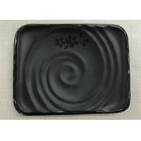 Japanese-style Rectangular Sushi Plate Black Melamine Dinnerware Weight 264g Manufactures
