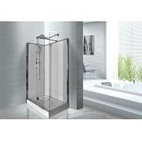 1200 x 800 x 2200 Rectangular Shower Cabins White ABS Tray Chrome Profiles Manufactures