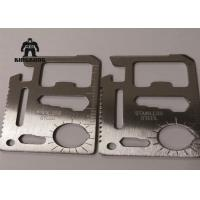 Metal    Multi Function  Stainless Steel Business Cards Outdoor   Camping Travelling Support Manufactures