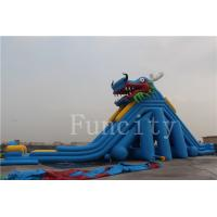Dragon Theme Inflatable Water Slide For Adults / Kids 0.55mm PVC Tarpaulin Manufactures
