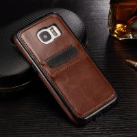 Samsung S7 Edge Leather Back Cover Crazy Horse With Two ID Card Slot 45.5g Manufactures