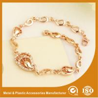 Customized Rose Gold Metal Chain Bracelets Plating , Embossing Manufactures