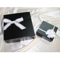 6*6*2 Inch, 2mm Thickness Black Cardboard / Paper Packaging Box For Gift Packaging Manufactures