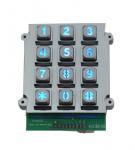 Die casting vandal proof industrial backlight dot matrix USB 12 key keypad Manufactures