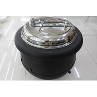 Black Color Electric Soup Warmer / Stainless Steel Cover Single Phase 220V Volt Manufactures