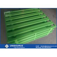 China Professional Green Steel Storage Pallets , Heavy Duty Stackable Metal Pallets on sale