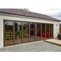 Fine Flexibility Residential Balcony Aluminium Folding Door With Standard Glass Manufactures
