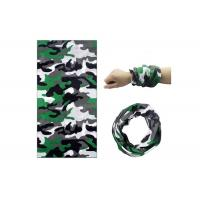 Camouflage Polyester Elastic Bandana Head Wrap , Neck Gaiter  For Running Manufactures