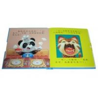 custom Full Color hardcover binding Kids / Childrens Book Printing with Inner draw Manufactures
