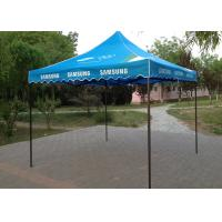 Blue Steel Canopy 3x3 Pop Up Gazebo Hand Printing For Beach Advertising Trade Show Manufactures