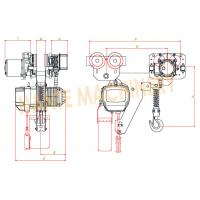 Quality 7.2 m / Min Max Lifting Speed 10 Ton Electric Chain Hoist For Single / Double Speed for sale