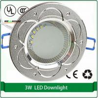 "Free shipping 2.5"" 100mm aluminum shell downlight cutout 65mm 3W led downlights down light Manufactures"