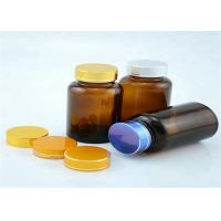 Wide Mouth 120cc Amber Pill Bottles Seal Metal Lid For Long Distance Travel Manufactures