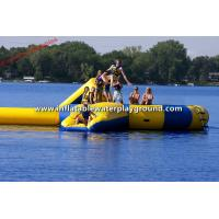 Floating Lake Inflatable Water Trampoline Combo With Blob Rentals Trampoline Park Manufactures