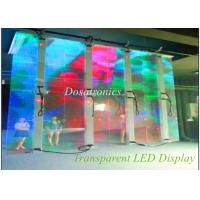 China Big Transparent Glass LED Display SMD 3535 , 1R1G1B P12 Transparent Led Video Wall on sale