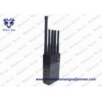 3600mA/h Battery Handheld Cell Phone Jammer , GPS Tracker Blocker L1 L2 L5 Manufactures