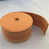 60mm Orange Color Outdoor Furniture Webbing 20%-30% Elongation With 3 Red Lines Manufactures