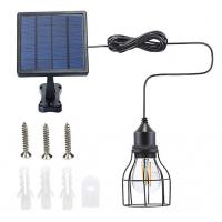 Outdoor Solar Powered Shed Pendant Lamp Vintage Hanging Edison Bulb Barn Light For Garden Porch Umbrella Manufactures