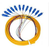 China Dustproof LC Pigtail Single Mode Low Smoke Zero Halogen Cable Type on sale