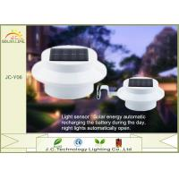White Battery Powered Garden / Pathway Solar Motion Detector Lights CE / ROHS Manufactures