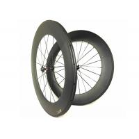 700C 88mm T700 Carbon Road Wheels , Road Bike Clincher Wheelset With Novatec 271 372 Hub Manufactures