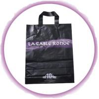 Customized PP Ribbon Soft Loop Handle Bag With Square Bottom For Shopping Manufactures