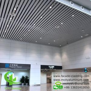 White Fireproof Aluminum Ceiling Tiles , Aluminum Perforated Ceiling  Strip  Type  Interior Exterior Powder Coated Manufactures