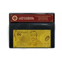 China New Zealand 100 Banknote 24K Gold Engrave Banknote Plated,Gold Currency Notes on sale