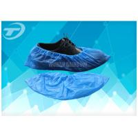 Buy cheap Chlorinated Polyethylene Fabric Disposable Shoe Covers Blue Color from wholesalers