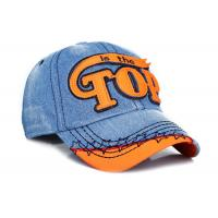 Women / Men Embroidery Denim Baseball Cap 6 Panel Fashion Style For Daily Decoration Manufactures