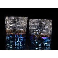 Dimpled Nail Embossed Glass Tea Candle Holders Glass Dome Candle Holder Manufactures