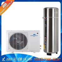 China 55DegC Splinched 5kw Gas Cycle Domestic Air Heat Pump Water Heater 200-300L Pressure Tank on sale