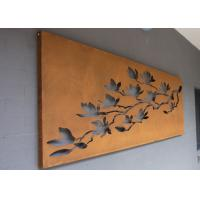 Laser Cut Corten Steel Metal Wall Art Trees And Fence For Outdoor / Indoor Manufactures