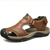 Large Size Summer Genuine leather sandals mens 2017 new arrival Manufactures