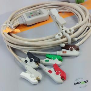 Kontron 7251 ECG Patient Cable , Medical mintor 5 lead ECG cable 12 pins Manufactures