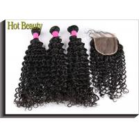 Hot Beauty Brazilian Vrigin Human Hair Extensions Deep Wave , Natural Black Manufactures