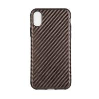 Tpu Soft Customized Back Cover Case For Iphone X Iphone10 , Carbon Pattern Protective Manufactures