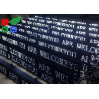 Quality P10 White Color LED Sign Board , Net Cord Control LED Scrolling Message Board for sale
