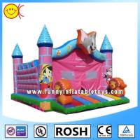 Cartoon Tom Pink Jumping Inflatable Bouncer Castle With CE / UL Blower Manufactures