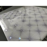 Quality Easy Install / Clean PVC Ceiling Boards 7mm Thickness Shining Purple Design for sale