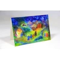 Foled Fancy Christmas Card With Color Postcards Printing , 3D Christmas Card Manufactures