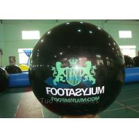 Custom Printed Helium Balloons Black Helium Spheres With Logo Manufactures