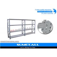 China Free Standing Diamond Hole Commercial Metal Shelving Longspan Racking For Storage on sale