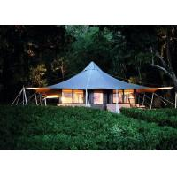 Durable Design Bell Tent Glamping , 100% Waterproof Hotel Tents For Sale Manufactures