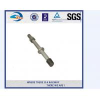 China SS201 SS303 Stainless Steel Double Thread Bolt And Nut For Railway on sale