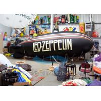 Quality 4m Helium Blimp Balloon / Advertising Zeppelin Air Balloon With Logo Printing for sale