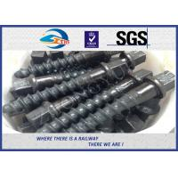 Customized 35# 45# Railroad Screw Spike For Railway Fastening System Construction Manufactures