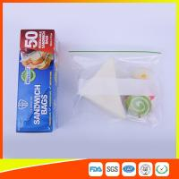 Multi Size Ziplock Plastic Bags For Food Storage , Zip Sandwich Bags OEM Acceptable Manufactures