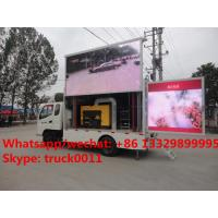 High quality best price P8 three sides mobile LED advertising truck for sale, Mobile LED truck with 3 sides LED screen Manufactures