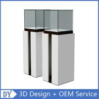 Popular Modern Wooden White Exhibition Display Plinths With competitive Prices Manufactures